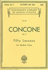 Concone Op.9 Fifty Lessons For Medium Voice